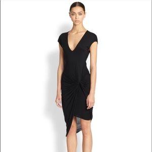 Stunning HELMUT LANG Knotted Jersey Dress LBD XS